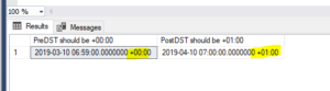 Showing Results of AT TIME ZONE function in SQL SERVER